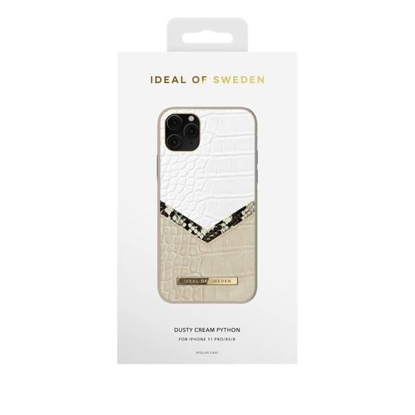Bilde av Fashion case Atelier iPhone 11 Pro/XS/X Dusty Cream Python