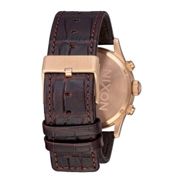 Bilde av Nixon Sentry Chrono Leather Rose Gold / Brown Gator