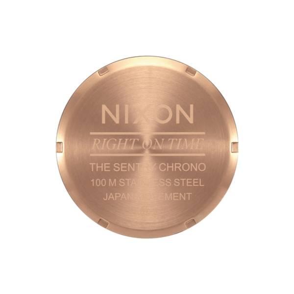 Bilde av Nixon Sentry Chrono Leather Rosegold / Gunmetal Brown