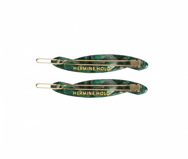 Bilde av Hermine HoldSolid Hair Slide Green 2-pack