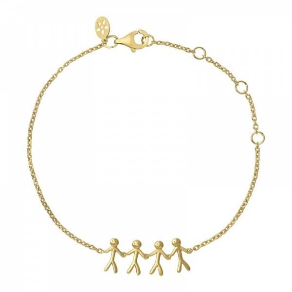 Bilde av byBiehl Together Family 4 Bracelet Gold