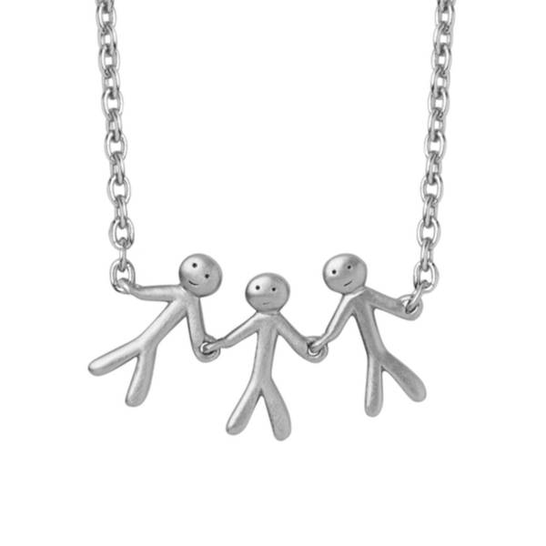 Bilde av byBiehl Together Family 3 Necklace Silver