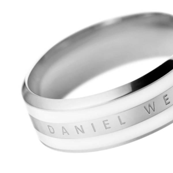 Bilde av Classic Ring Satin White Silver