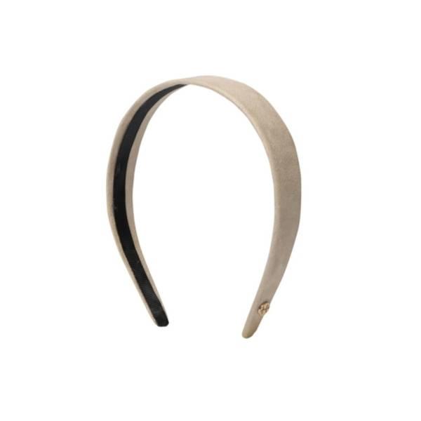 Bilde av Hermine Hold Suede Solid Headband Beige