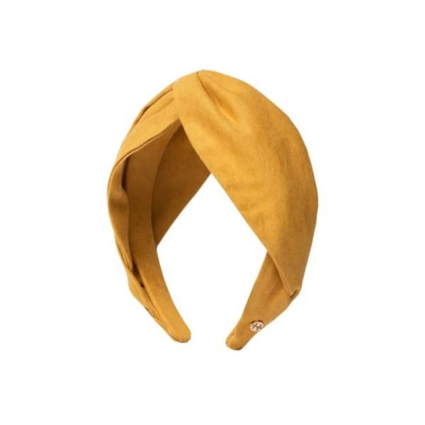 Bilde av Hermine Hold Suede Knot Headband Mustard