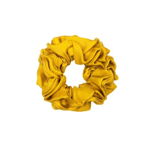 Bilde av Hermine Hold Solid Silk Scrunchie Mustard