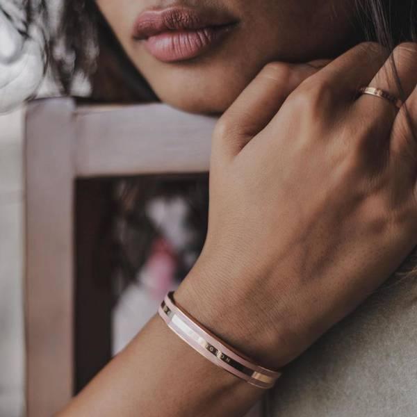 Bilde av Classic Bracelet Rose Gold Dusty Rose Small