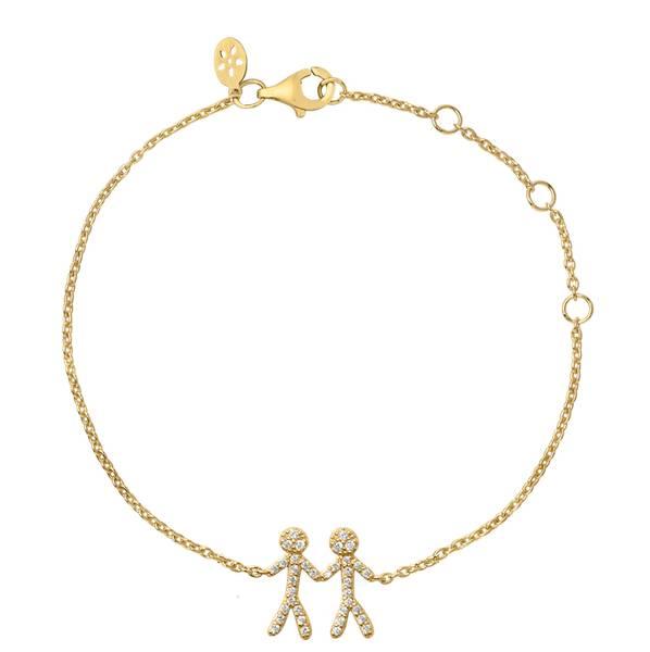 Bilde av byBiehl Together You & Me Bracelet Gold