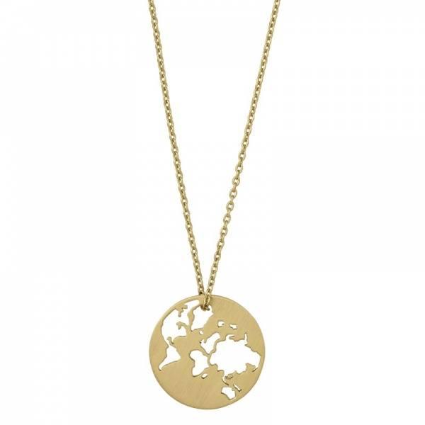 Bilde av byBiehl Beautiful World Necklace Gold 80cm