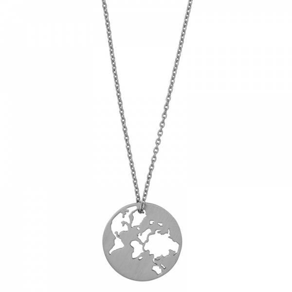 Bilde av byBiehl Beautiful World Necklace Silver 80cm