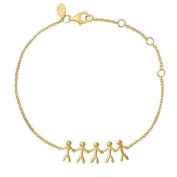 Bilde av byBiehl Together Family 5 bracelet gold