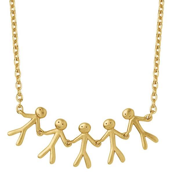 Bilde av byBiehl Together Family 5 necklace gold