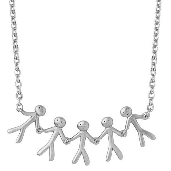 Bilde av byBiehl Together Family 5 necklace silver
