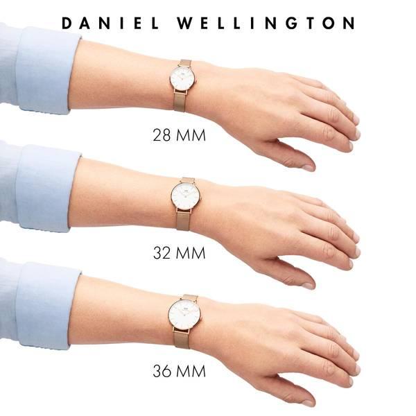 Bilde av Daniel Wellington Classic Petite Melrose White 28mm
