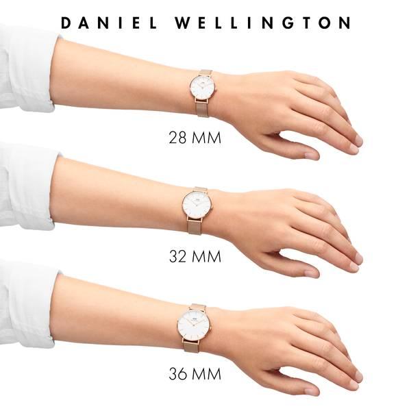 Bilde av Daniel Wellington Classic Petite Sterling White 28mm