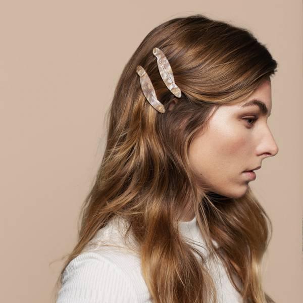 Bilde av Hermine HoldSolid Hair Slide Beige 2-pack