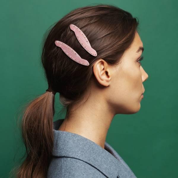 Bilde av Hermine HoldSparkly Hair Slide Pink 2-pack