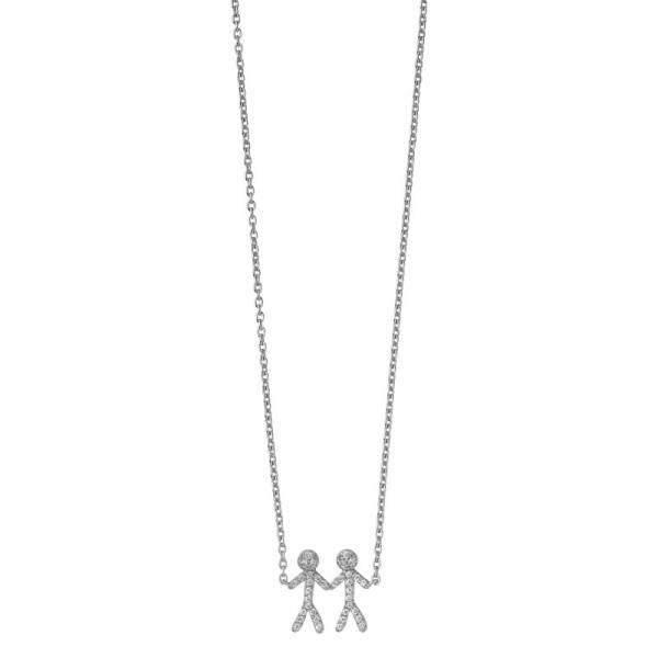 Bilde av byBiehl Together You & Me Necklace Silver