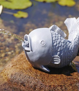 Bilde av FONTENE FIGUR FISK + PUMPE OG SLANGE