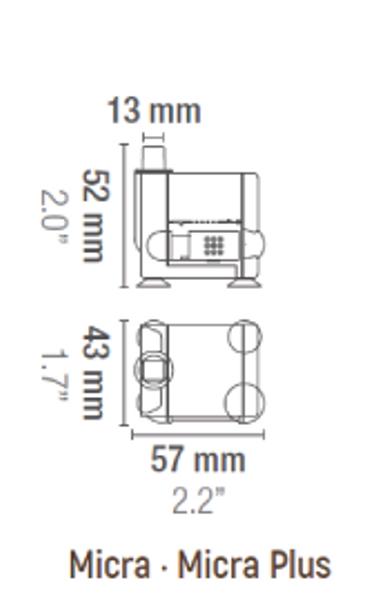 PUMPE SICCE  MICRA-PLUS 0,6 FOR VANNORNAMENTER /AKVARIUM