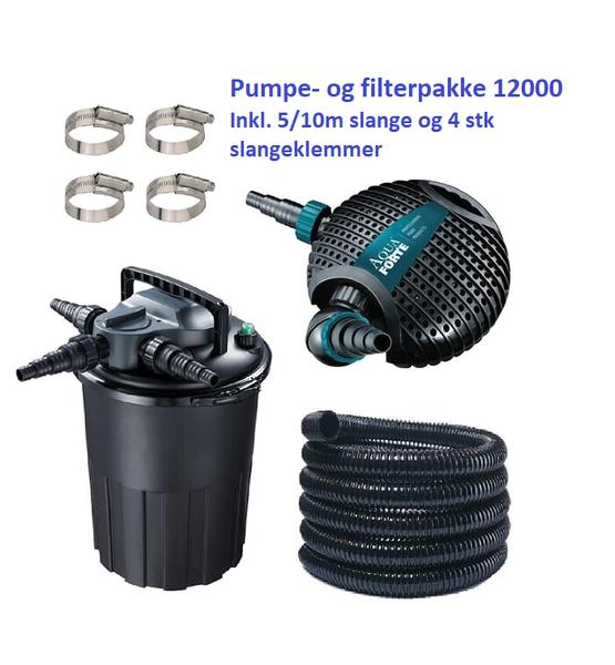 PUMPE- OG FILTERPAKKE 12000