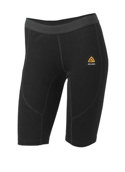 Aclima Warmwool Shorts (Long), Dame Jet Black