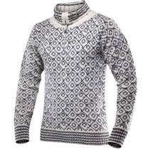 Devold Svalbard Sweater Zip Neck  020a Offwhite/Anthracite
