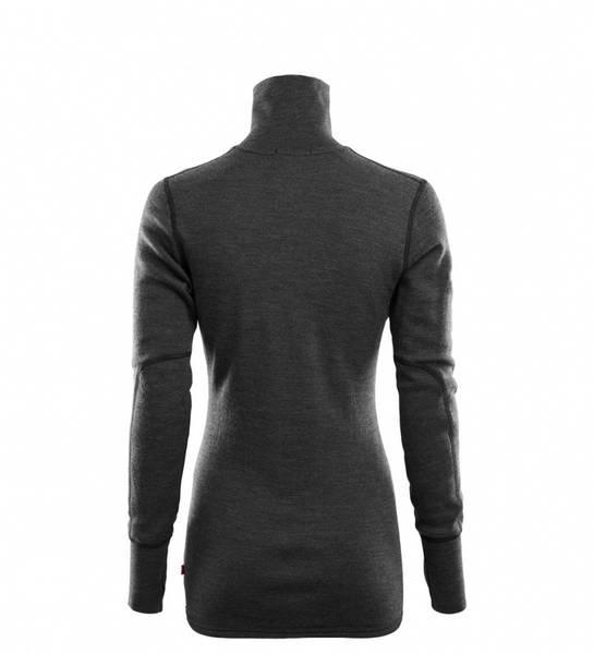 Aclima Doublewool Polo Shirt Zip Dame Marengo/Jet Black