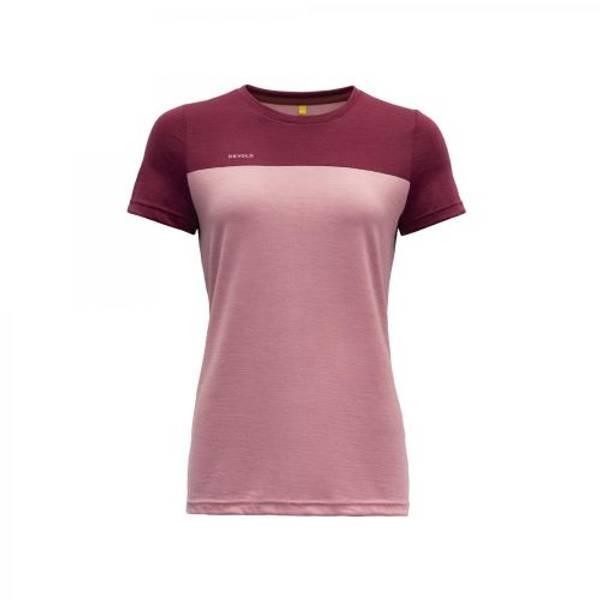 Devold Norang T-skjorte Ull Dame Foxglove/Beetroot