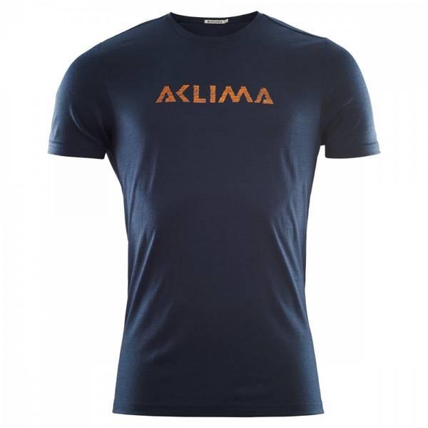 Aclima Lightwool T-Shirt Logo, Man  232 Navy Blazer