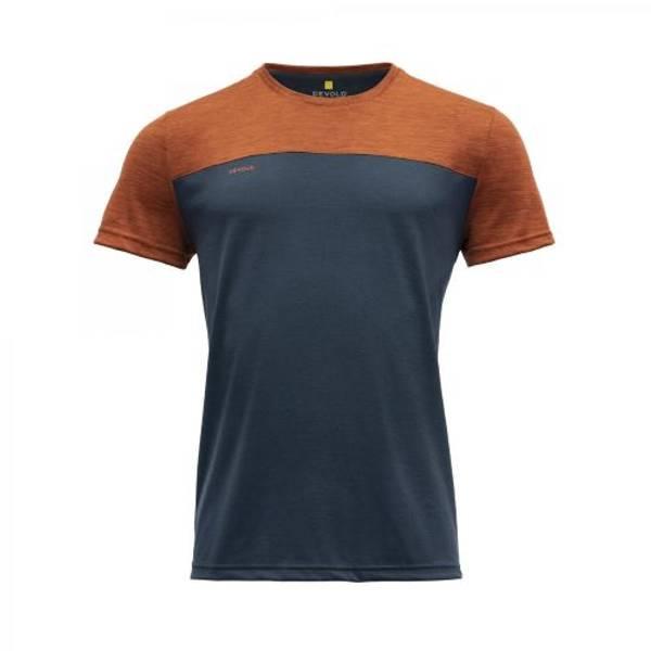 Devold Norang T-skjorte Herre Brick Melange/Night