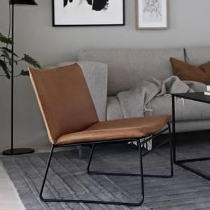 Bilde av Kyst Lounge Chair m/ Vintage skinn