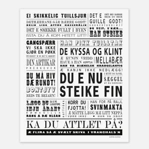 Bilde av Austad 40x50 - Du e Nu Steike Fin