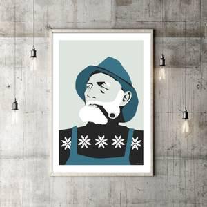 Bilde av Holviks Poster A3 - Fiskeren Petrol