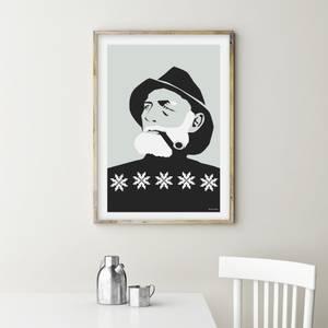 Bilde av Holviks Poster 15x20 - Fiskeren Svart