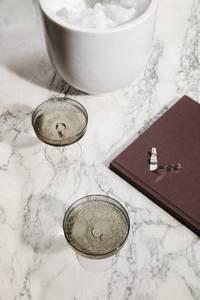 Bilde av Ripple Champagne Saucer - Set of 2 - Smo