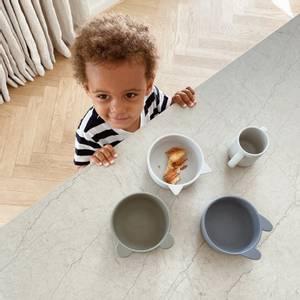Bilde av Iggy Silicone Bowls 4 Pack - Blue mix