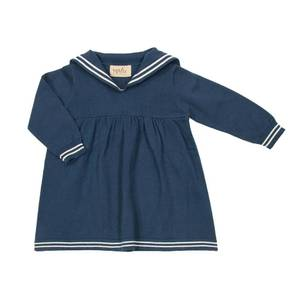 Bilde av MEMINI METTE KJOLE SAILOR DRESS <br> PETROL BLUE