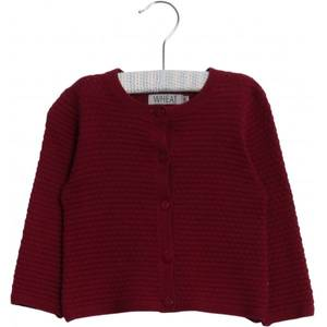 Bilde av WHEAT KNIT CARDIGAN BETTY <br> RED PLUM