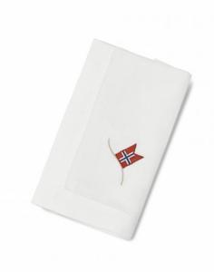 Bilde av Servietter med norgesflagg