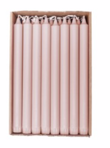 Bilde av Kronelys 28cm dus rosa