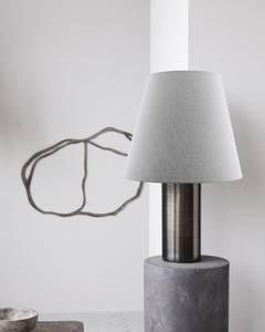 Bilde av Bordlampe, Bakora, Antikk metallisk