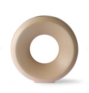 Bilde av Ceramic circle vase l sand
