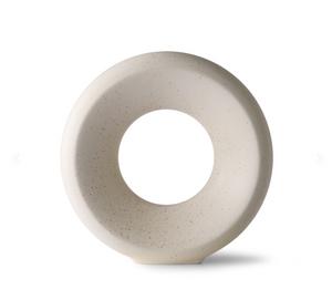 Bilde av Ceramic circle vase m white speckled