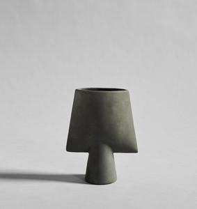 Bilde av Sphere Vase square, mini - Dark Grey