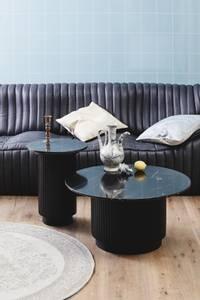 Bilde av ERIE round coffee table black marble top