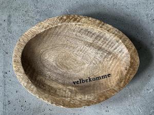 """Bilde av Tallerken tre oval 20cm """"velbekomme"""""""