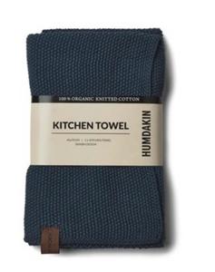 Bilde av Knitted kitchen towel Sea Blue