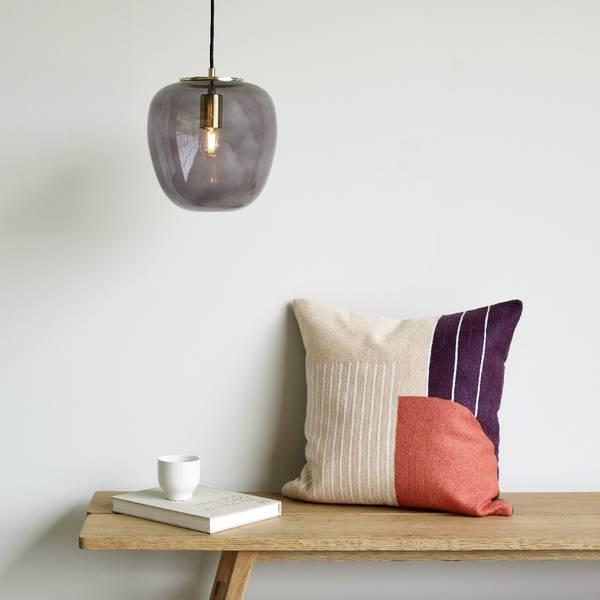 Bilde av SMOKED GREY GLASS LAMP -