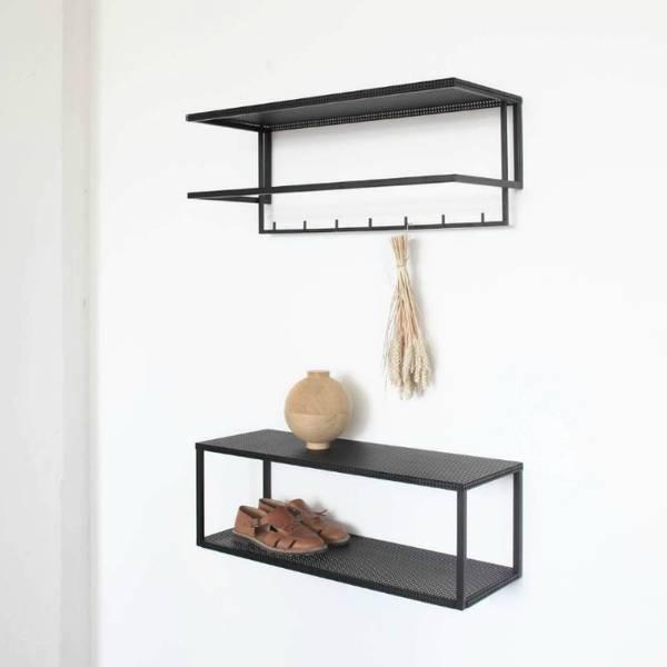 Bilde av Grid Wall Shelf - Stålhylle -